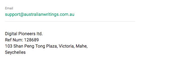 Australianwritings.com.au contacts